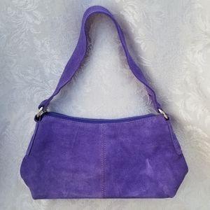 Appleseed's Velvet Lilac Shoulder Bag